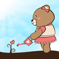 Lovely bear card collection no eps Royalty Free Stock Photos