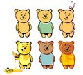 Lovely bear for your cartoon a teddy stickers postcards or handmade he is looking forward to meeting with their friends to enjoy Royalty Free Stock Photos