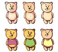 Lovely bear for your cartoon a teddy stickers postcards or handmade he is looking forward to meeting with their friends to enjoy Royalty Free Stock Images