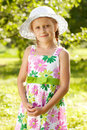 Lovely blonde girl in a hat Royalty Free Stock Photography