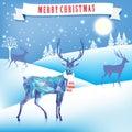 Lovely Christmas Image. Deer, ...