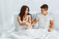 Lovely couple in the morning Royalty Free Stock Photo