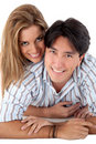 Lovely couple smiling Royalty Free Stock Photo