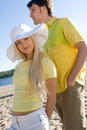 Lovely couple at summer beach Stock Image