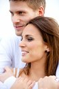 Lovely Couple in a Sweet Embrace Stock Photography