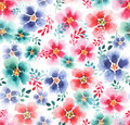 Lovely cute sophisticated tender beautiful floral herbal artistic gorgeous colorful mallow with colorful leaves pattern Royalty Free Stock Photo