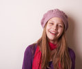 Lovely cute teen girl portrait of a Royalty Free Stock Photography