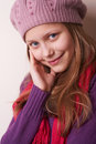 Lovely cute teen girl portrait of a Stock Photo