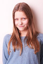 Lovely cute teen girl portrait of a Royalty Free Stock Image