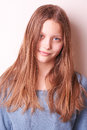 Lovely cute teen girl portrait of a Royalty Free Stock Images