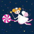 Lovely fairy with candy night vector Royalty Free Stock Photo