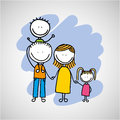 lovely family icon Royalty Free Stock Photo