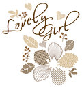 Lovely girl shirt fashion teen embroidery Stock Photo