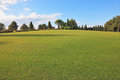 A lovely green lawn grass in a park northern italy Royalty Free Stock Photography