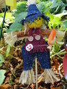 Lovely halloween scarecrow a for decorating garden Stock Image