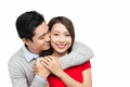 Lovely happy couple hugging Royalty Free Stock Photo