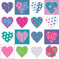 Lovely hearts collection pattern Royalty Free Stock Photo