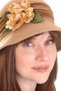 Lovely lady with hat. Stock Photography