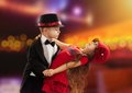Lovely little boy and girl dancing Royalty Free Stock Photo