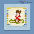Lovely little girl blowing soap bubbles Stock Photos