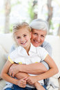 Lovely little girl with her grandmother Royalty Free Stock Photo
