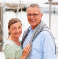 Lovely mature couple on a sea voyage Royalty Free Stock Images