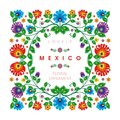 Lovely Mexican ethnic Floral decoration design