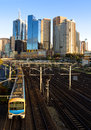 Lovely morning for a train ride with heading out of melbourne Royalty Free Stock Image