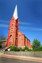Lovely Old Brick Church Royalty Free Stock Photo