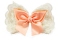Lovely orange hairpin on white background Royalty Free Stock Images