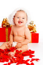 Lovely Santa baby Stock Image