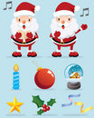 Lovely Santa Claus and Christmas Decoration Icon Royalty Free Stock Photos