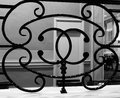 Lovely scrollwork in black and iron Royalty Free Stock Photo