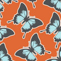 Lovely seamless pattern with butterflies Stock Photography
