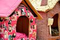 Lovely small house for pet colorful and made by cloth Stock Photo
