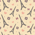 Lovely soft eiffel tower seamless pattern background illustration Royalty Free Stock Photo