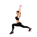 Lovely sports woman doing fitness