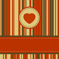 Lovely stripy card 70s retro template. EPS 8 Stock Image