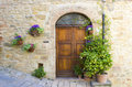 Lovely tuscan doors volterra italy Stock Photography