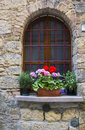 Lovely tuscan window Royalty Free Stock Photo