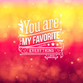 Lovely valentine card with lettering style vector Royalty Free Stock Image