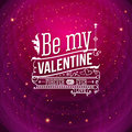 Lovely valentine card with lettering style vector illustration Royalty Free Stock Photography