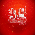 Lovely valentine card with lettering style vector illustration Stock Photography
