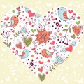 Lovely Valentine's day invitation postcard Stock Images