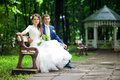 Lovely wedding couple Royalty Free Stock Photo