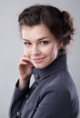 Lovely young business lady smiling Stock Images