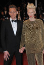 Lover tilda swinton tom hiddleston at gala premiere at the th festival de cannes for their movie only lovers left alive may cannes Royalty Free Stock Photo
