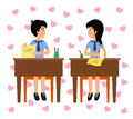 Lovers in class Royalty Free Stock Photos