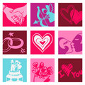 Lovers color icons Stock Photo