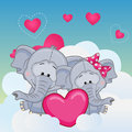 Lovers Elephans Royalty Free Stock Photo